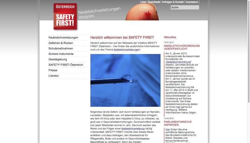 Initiative SAFETY FIRST! Österreich