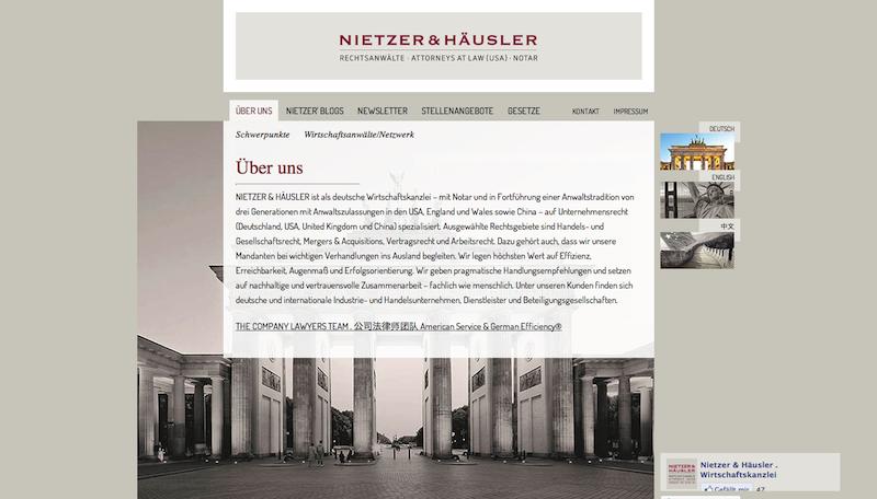 Wirtschaftskanzlei Nietzer & Häusler